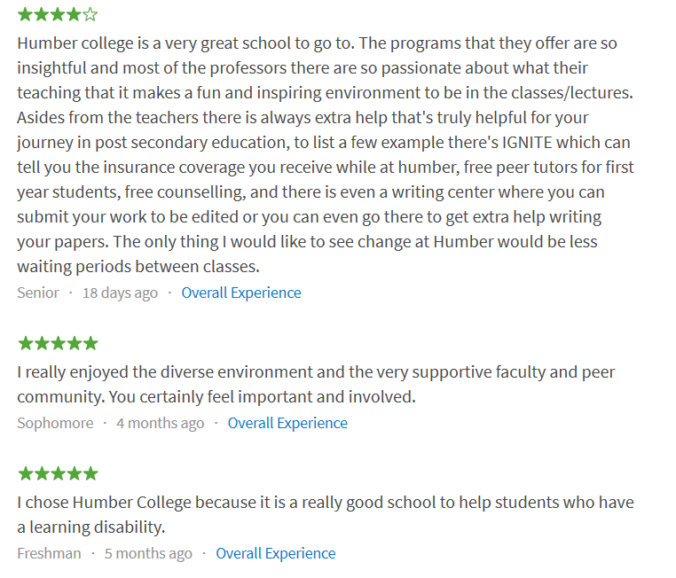 humber-college-reviews